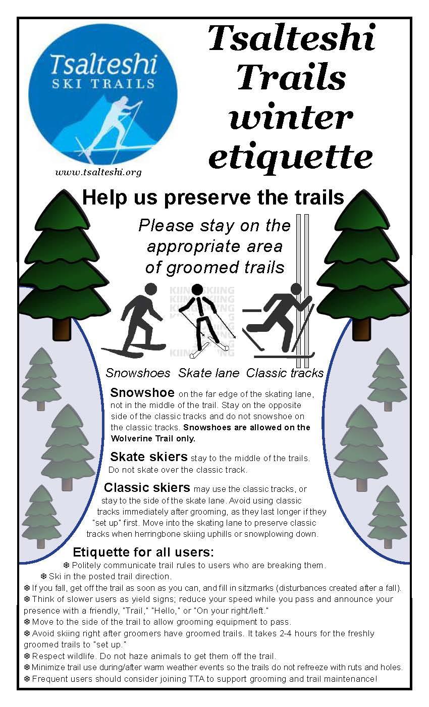 trails etiquette poster