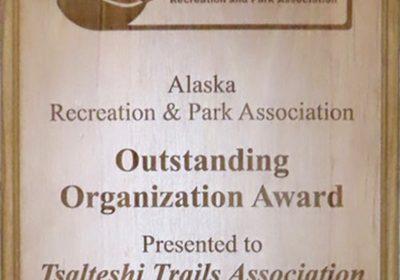 Tsalteshi receives Outstanding Organization Award
